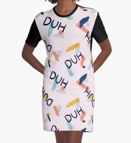 DUH Pattern #redbubble #pattern Graphic T-Shirt Dress