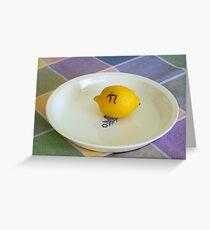 Lemon Pi Greeting Card