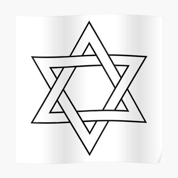 #Star of #David #Clipart #StarOfDavid Poster