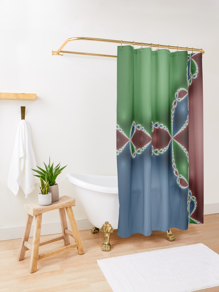 Alternate view of #Design, #abstract, #pattern, #illustration, psychedelic, vortex, modern, art, decoration Shower Curtain