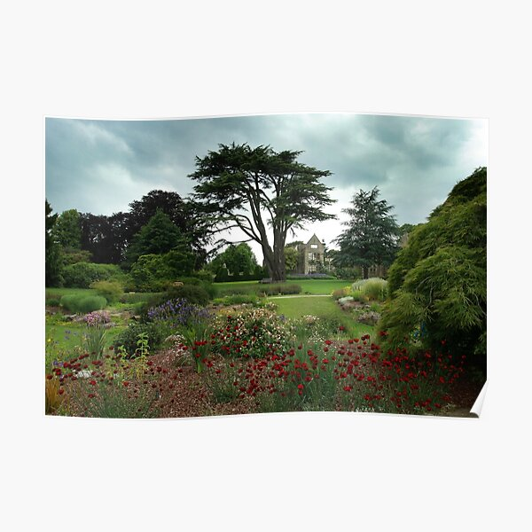 An English country garden in summer Poster