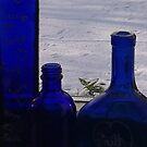Ten Blue Bottles sitting......... by Jan Carlton