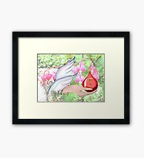 Angel Collects Blood of Christ Framed Print
