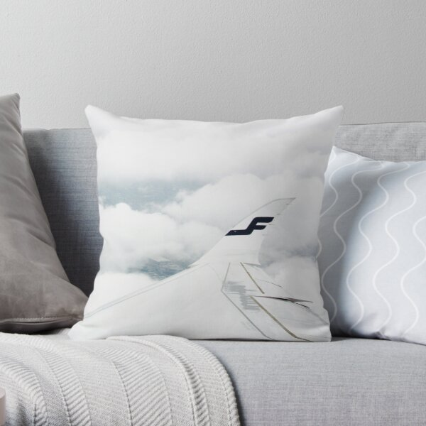 A350 In The Clouds Throw Pillow