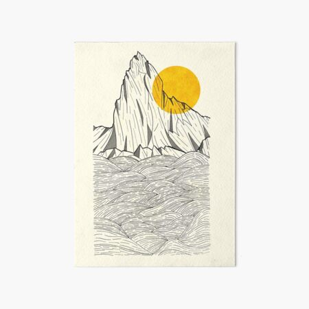 Sun Cliffs Art Board Print