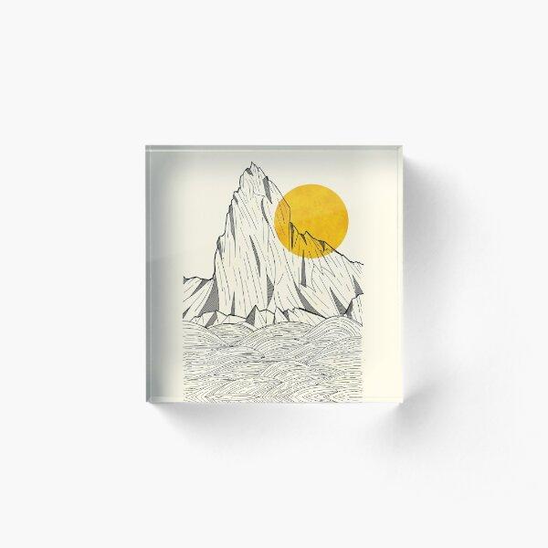 Sun Cliffs Acrylic Block