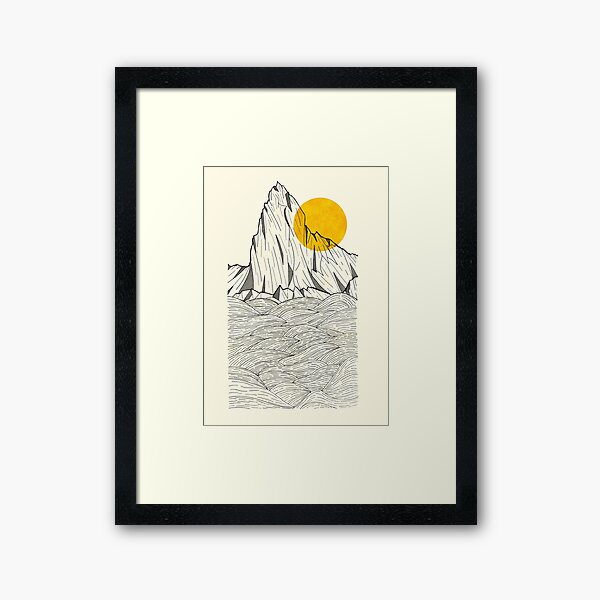 Sun Cliffs Framed Art Print