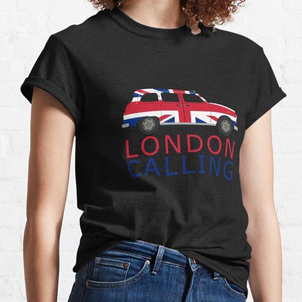 London Calling Black Cab Union Jack Taxi  Classic T-Shirt