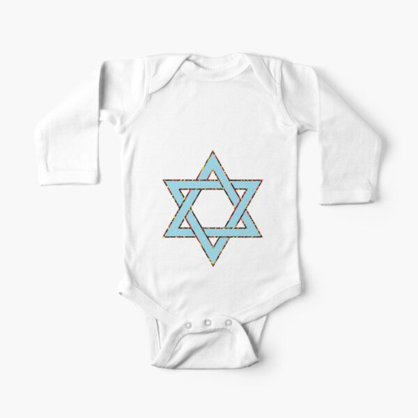 #Star of #David #Clipart #StarOfDavid Long Sleeve Baby One-Piece