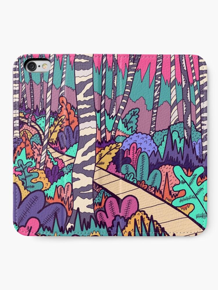 Alternative Ansicht von Der Waldspaziergang iPhone Flip-Case