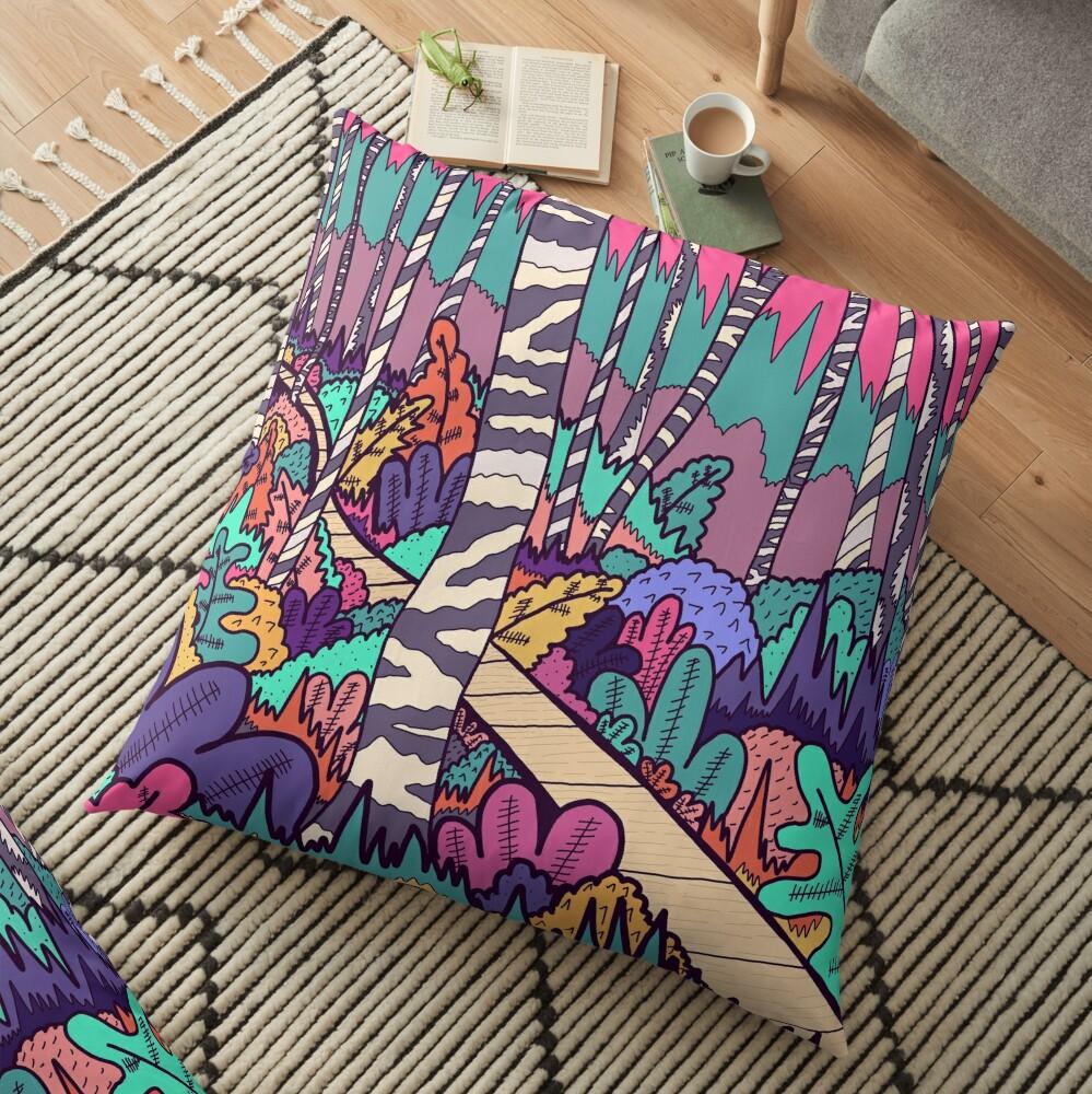 The woodland walk Floor Pillow