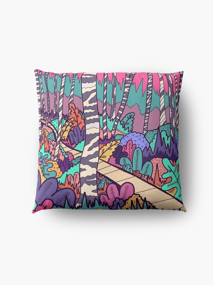 Alternate view of The woodland walk Floor Pillow