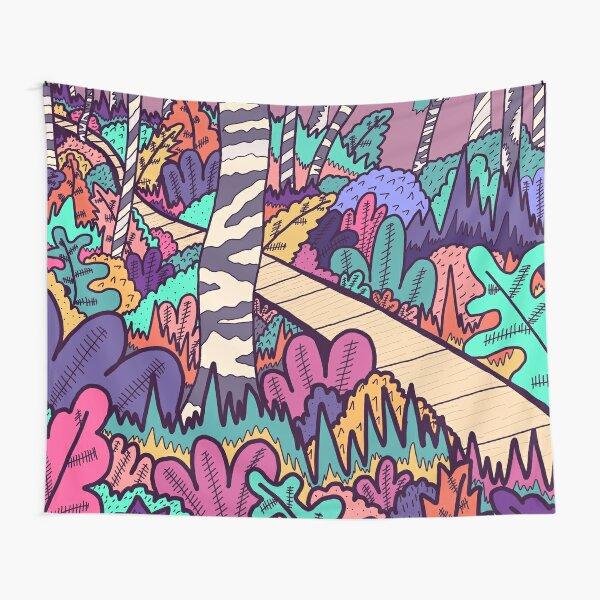 Der Waldspaziergang Wandbehang