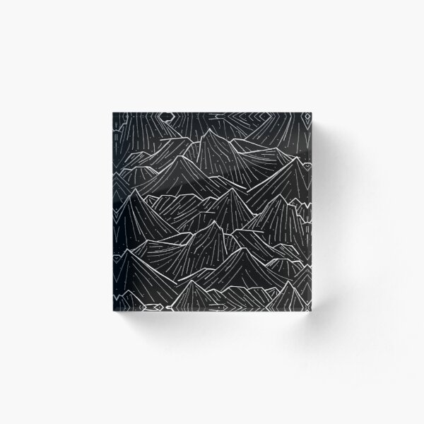 The Dark Mountains Acrylic Block