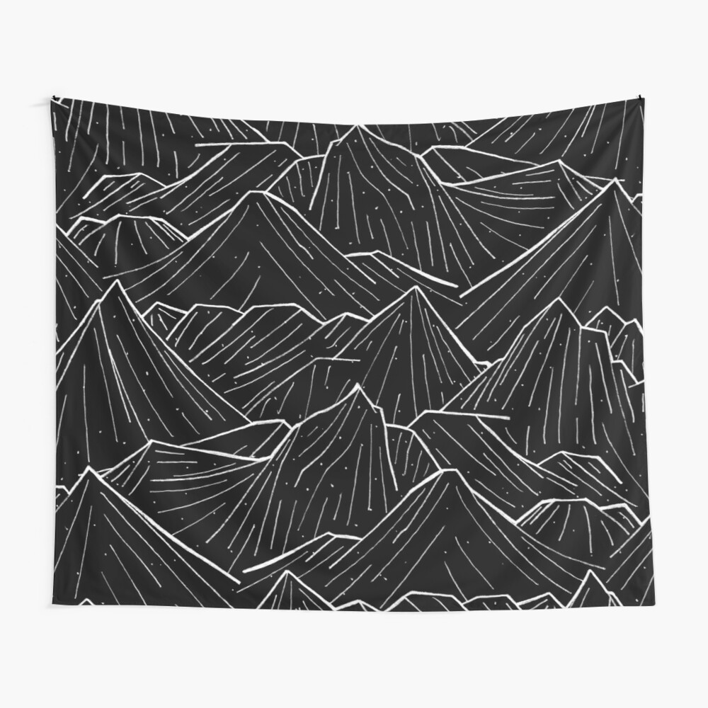 The Dark Mountains Wall Tapestry