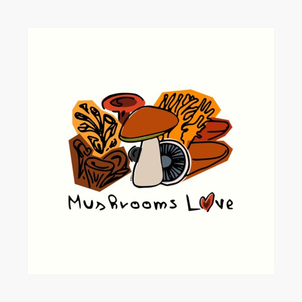 Mushrooms Love Art Print