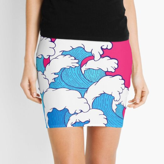 As the waves roll in Mini Skirt