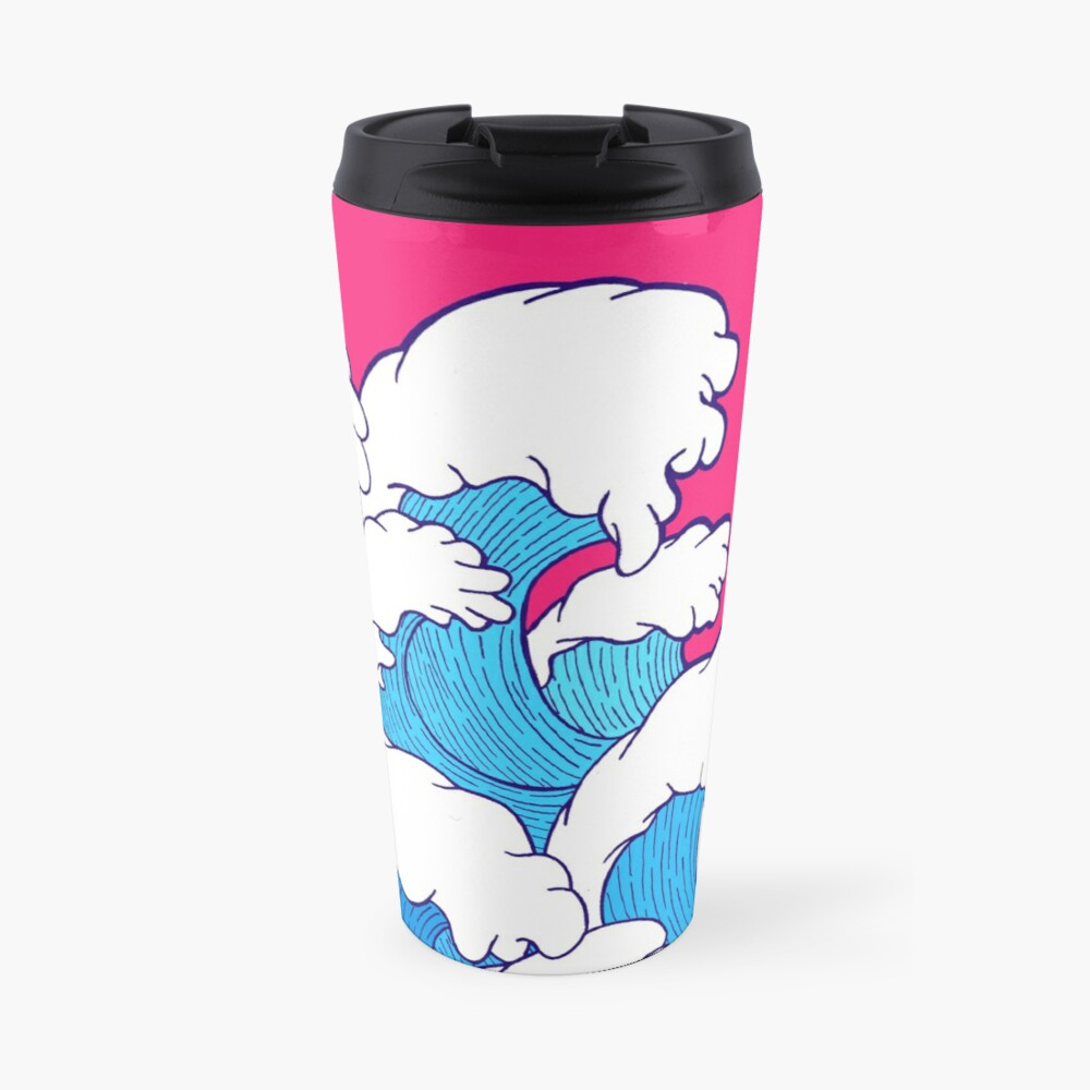 As the waves roll in Travel Mug