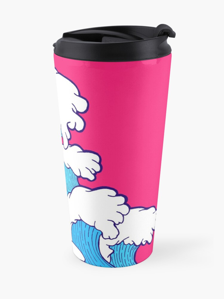 Alternate view of As the waves roll in Travel Mug