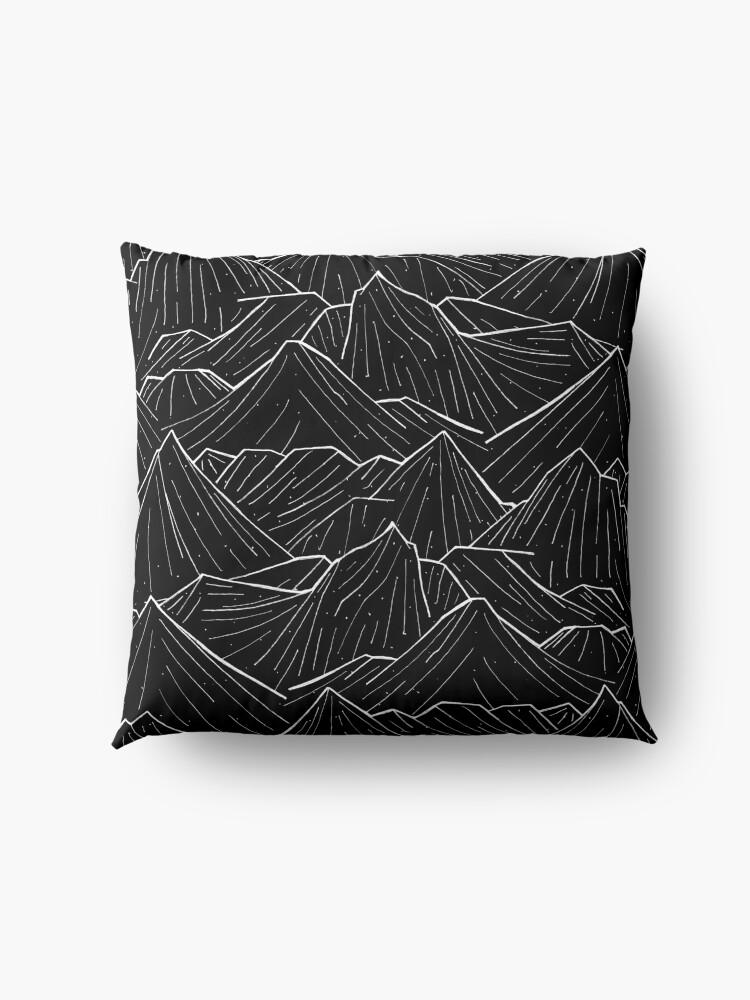 Alternate view of The Dark Mountains Floor Pillow