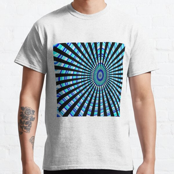 #Design, #abstract, #pattern, #illustration, psychedelic, vortex, modern, art, decoration Classic T-Shirt
