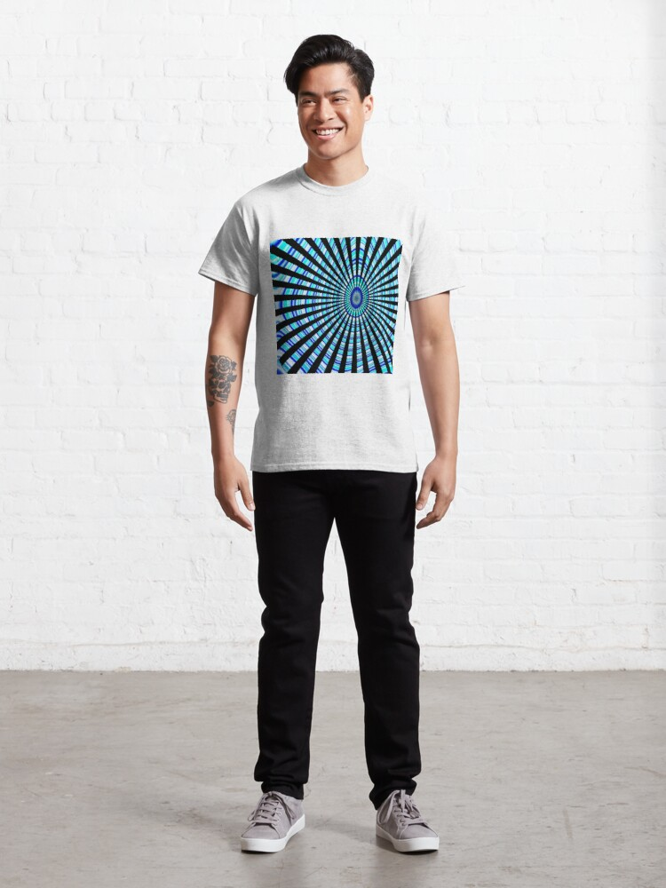 Alternate view of #Design, #abstract, #pattern, #illustration, psychedelic, vortex, modern, art, decoration Classic T-Shirt