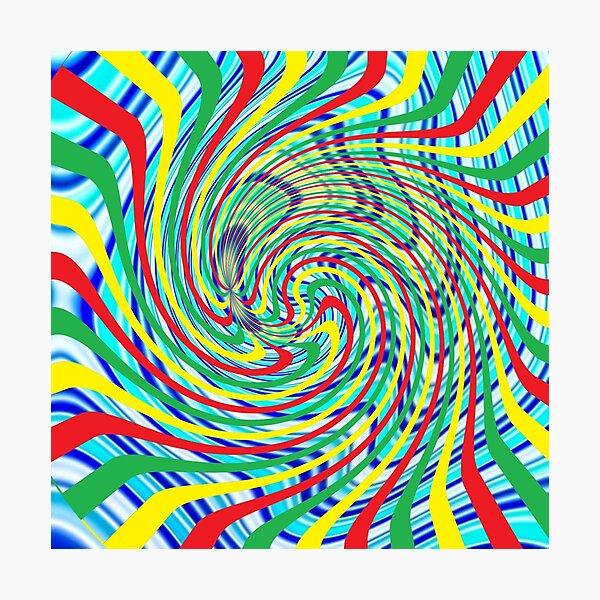 #Corkscrew, #anfractuous, #винтовой, #screw, витой, stranded, винтообразный, Hypnotic, Mesmeric, психоделический, psychedelic Photographic Print