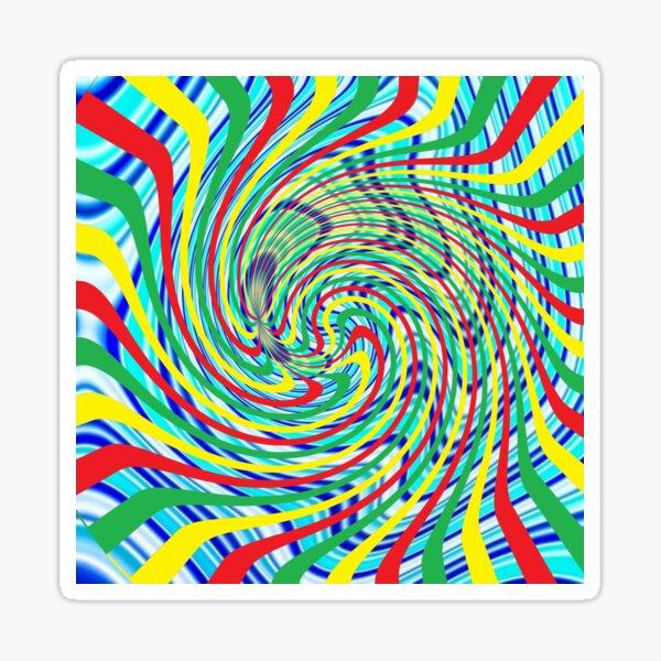 #Corkscrew, #anfractuous, #винтовой, #screw, витой, stranded, винтообразный, Hypnotic, Mesmeric, психоделический, psychedelic Sticker