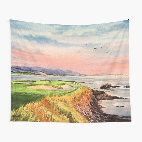 Pebble Beach Golf Course 7th Hole Tapestry