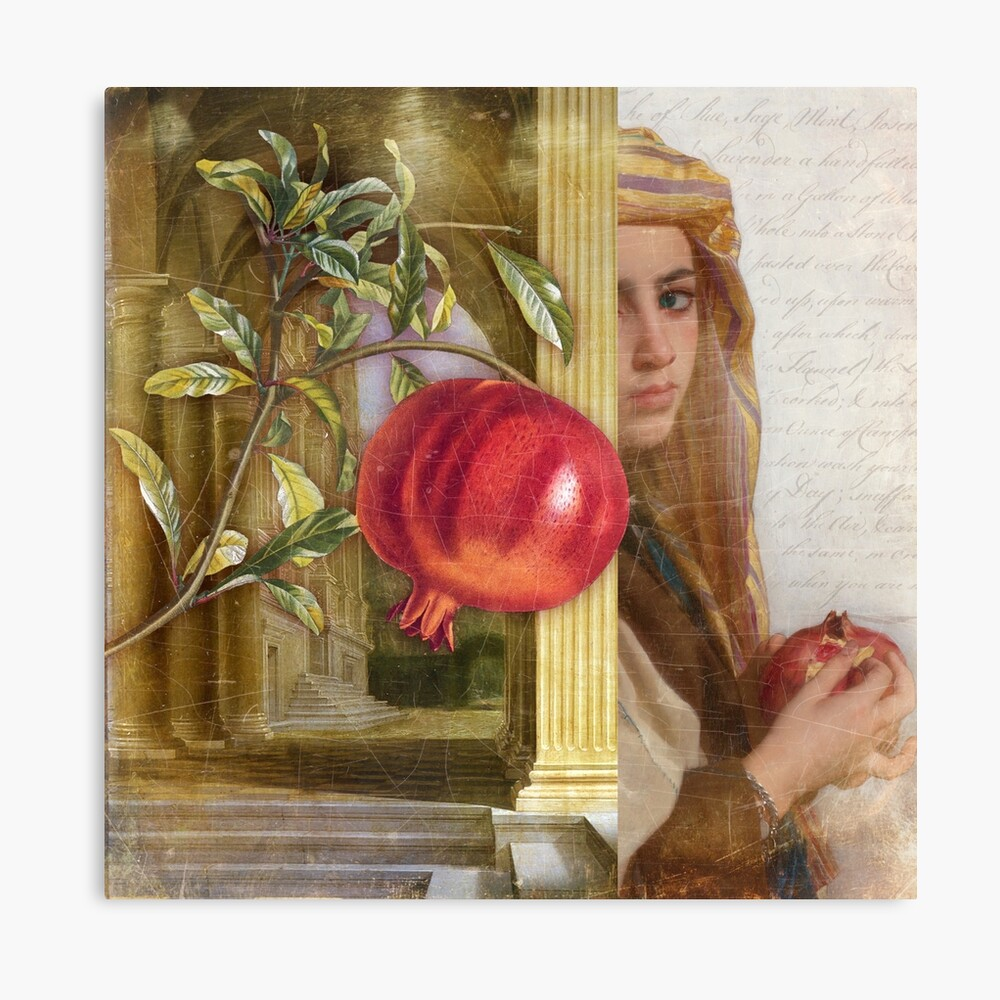 The Pomegranate Eater Canvas Print