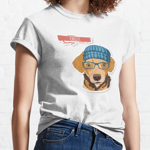 """Hipster Mixed """"Chill"""" Classic T-Shirt"""