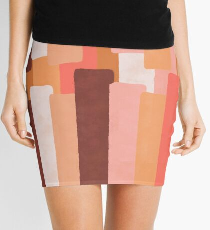 Line In Coral #redbubble #abstractart Mini Skirt