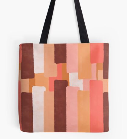 Line In Coral #redbubble #abstractart Tote Bag