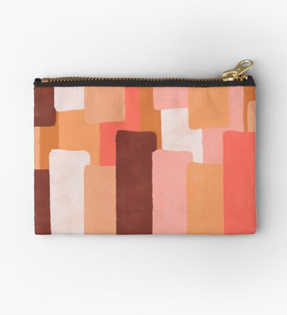 Line In Coral #redbubble #abstractart Zipper Pouch