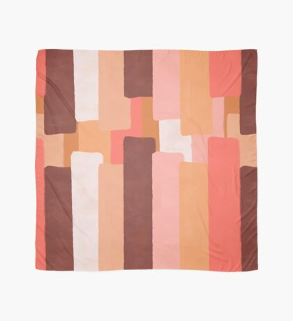 Line In Coral #redbubble #abstractart Scarf