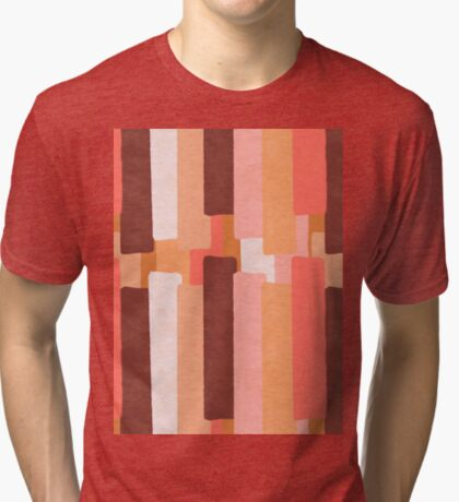 Line In Coral #redbubble #abstractart Tri-blend T-Shirt