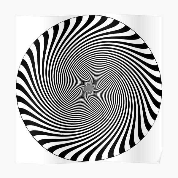 #hypnosis, #vortex, #illusion, #design, pattern, art, abstract, illustration, psychedelic, nature, spiral, twist, creativity Poster