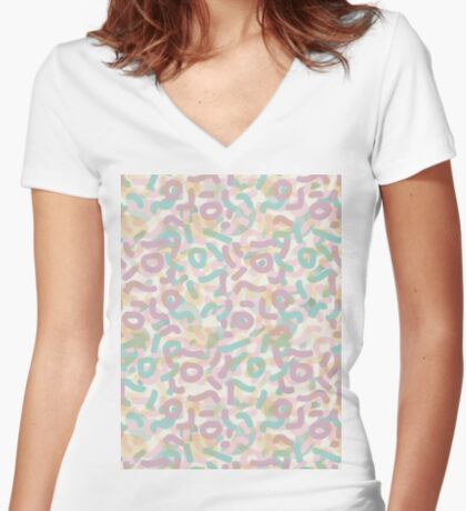 Funny Mess #redbubble #abstractart Fitted V-Neck T-Shirt
