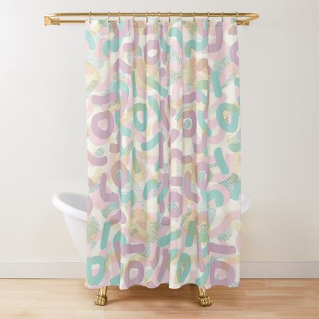Funny Mess #redbubble #abstractart Shower Curtain