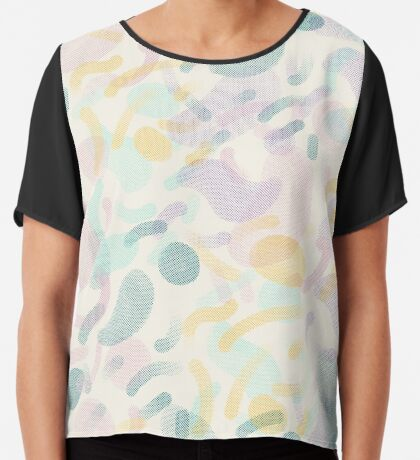 Dotted Blobs #redbubble #abstractart Chiffon Top
