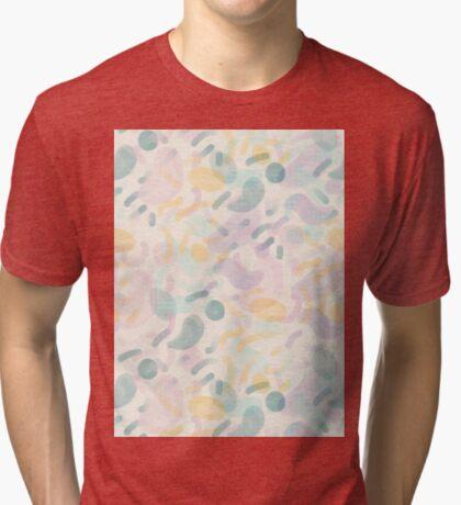 Dotted Blobs #redbubble #abstractart Tri-blend T-Shirt