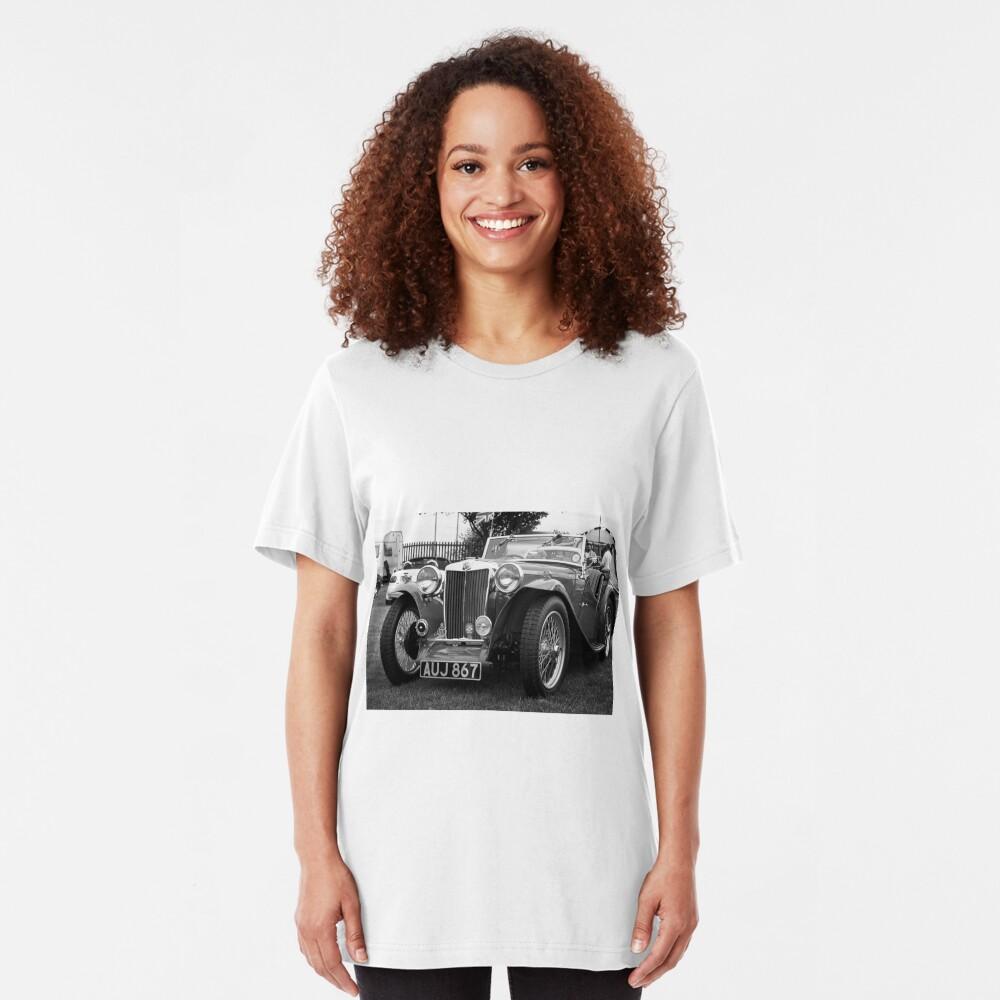 Vintage MG-T Sports Car Slim Fit T-Shirt