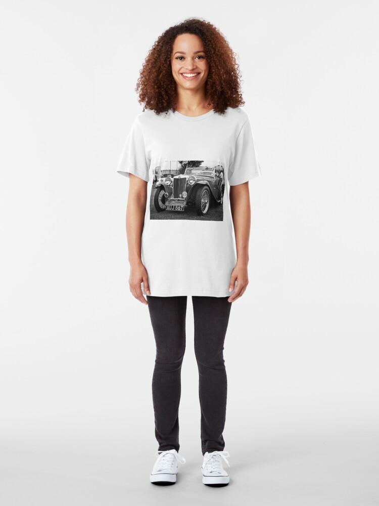 Alternate view of Vintage MG-T Sports Car Slim Fit T-Shirt