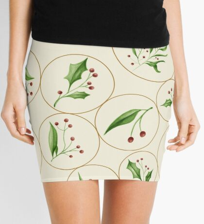 Berries Baubles #redbubble #xmas Mini Skirt
