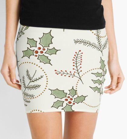 Classic Winter #redbubble #xmas Mini Skirt