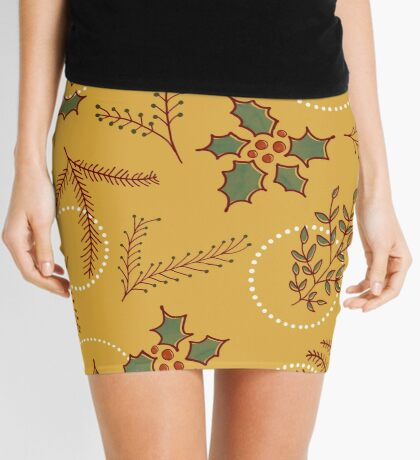 Classic Cozy #redbubble #xmas Mini Skirt