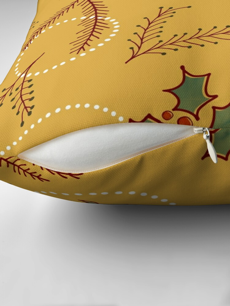 Alternate view of Classic Cozy #redbubble #xmas Throw Pillow