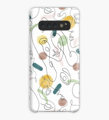One Line Portraits #redbubble #figurative Case/Skin for Samsung Galaxy