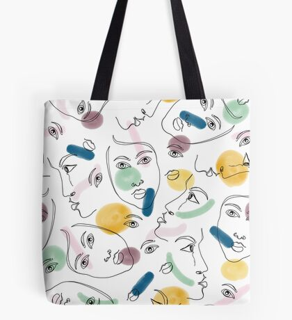 Female Portraits #redbubble #figurative Tote Bag