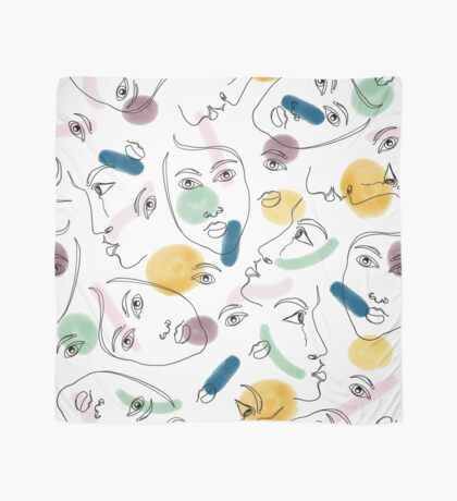 Female Portraits #redbubble #figurative Scarf